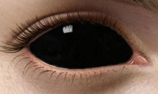 фото чёрных линз